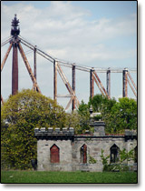 The Renwick and Smallpox Hospital ruins on Roosevelt Island, New York City, 10044