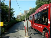 The Roosevelt Island Red Bus